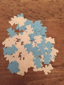 200 Pieces Blue And Cream Teddies-Baby Shower Confetti