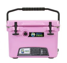 Frosted Frog Pink 20 Quart Ice Chest Heavy Duty Roto-Molded Insulated Cooler
