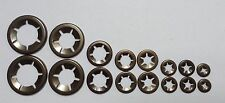 Genuine Lock Clamp Star Retaining Clip Washers  2 x 3,4,5,6,8,10,12&16mm 16PCE