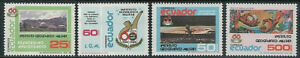 ECUADOR - 1988 60th Anniversary Institute Geographical Military Set of 4 MNH