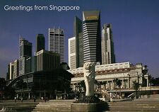 The Merlion, Fullerton Hotel, Business Center Singapore, Lion Head etc. Postcard