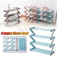 4 Tiers Detachable Shoe Rack Tower Shelf Organiser Storage Stand Cabinet Holder!
