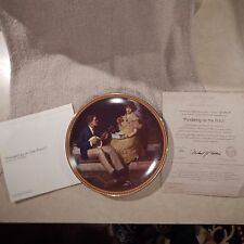 """Collector Plate #3 Rockwell's Rediscovered Women """"Pondering on the Porch""""  CP-72"""