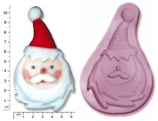 FATHER / SANTA Face CHRISTMAS Craft Sugarcraft Sculpey Silicone Rubber Mould