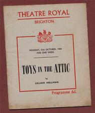 Brighton. 'Toys in the Attic' 1960 Theatre  Wendy Hiller. Diana Wynyard.  h137