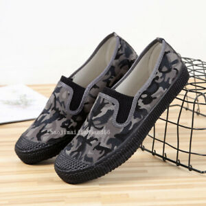 Vintage Kung Fu Tai chi Running Sneaker Labor Shoes Camouflage Slippers Plimsoll