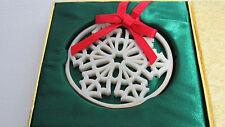Lenox Snow Star Pierced Snowflake Ornament in Original Box ~An Early One !(1Zfs)