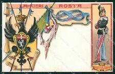 Militari Reggimentali VI Lancieri di Aosta Savoia Umberto I cartolina XF2138