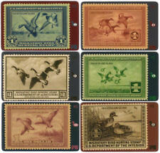 Duck Hunting Permit Stamps - Beautiful Set of 62 Different Cards USED Phone Card