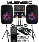 Complete Professional 4000W DJ System Dual CD MIDI BT 15