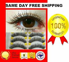 "10 X BLACK PAIRS FALSE EYE LASHES ""SPECIALIZED MADE BY HAND ENTIRELY"" SOFT CURLY"