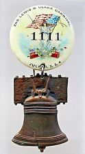 1890's 2nd Lewis & Clark Carnival Patriotic July 4 w/attachment pinback button *