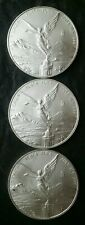 Three 2013 Mexico 1oz Silver Libertads