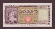 500 lire (500 £) Italia ornata di spighe  20/03/1947