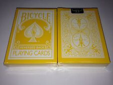Reversed Back Bicycle Deck-Yellow(2nd Generation)~by magic maker S1032243305