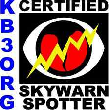 "Personalized Amateur Ham Radio 6"" x 6"" Decal SkyWarn Sky Warn Storm Chaser"