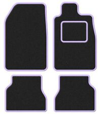 Mazda Demio 96-00 Super Velour Black/Purple Trim Car mat set