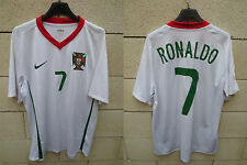 Maillot PORTUGAL Nike CR7 RONALDO camiseta jersey shirt football L away blanc