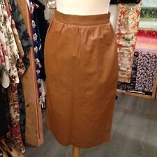 Leather Tailored Vintage Skirts for Women