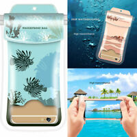 Waterproof Underwater Case Dry Pouch for Mobile Phone 3 Sealing Strip Cover Bag