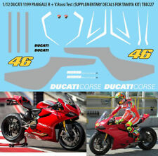 1/12 DUCATI 1199 R PANIGALE + VALENTINO ROSSI TAMIYA DECALS TB DECAL TBD227