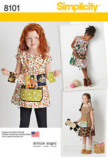 Simplicity Pattern 8101 CHILD'S DRESS AND TUNIC FROM DOTTIE ANGEL smock apron