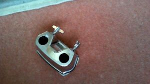 22mm FENDER  BASS DRUM  TO TOMS CONNECTOR PLATE BRACKET & FIXINGS.CHROMED
