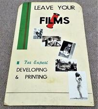 More details for chemist pharmacy photographic film developing 1930s counter top advertisement