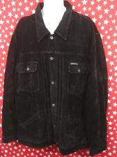 Vintage 90's Parasuco Men's Jacket Black Size 2XL Hip Hop Suede Leather Feel