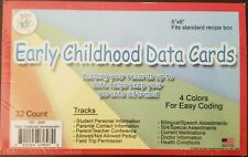 Lakeshore Tnt teacher school Early Childhood Data Cards 32 count 5x8 color-coded