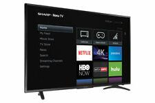 "Sharp 55"" inch LED 4K UHD Roku Smart Tv (LC-55LBU711C)"