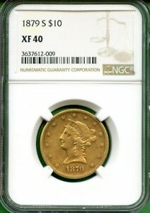 1879S   $10 DOLLARS  GOLD   NGC XF 40  US