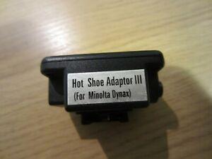 Minolta Hot Shoe Adapter III 3  Dynax cameras