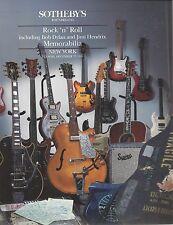 SOTHEBY'S ANIMATION ART ROCK 'N' ROLL BOB DYLAN JIMI HENDRIX Catalog 1991