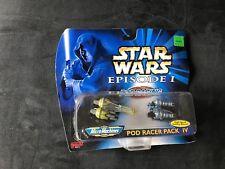 MICRO MACHINES STAR WARS EP 1 POD RACER PACK 4 IV GALOOB '98 BOLES ROOR NEVA KEE