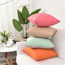 Solid color Patio Pillow Covers ANY SIZE/Waterproof Outdoor Throw Cushion Cover