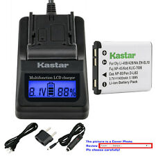 Kastar Battery LCD Fast Charger for Kodak KLIC-7006 Kodak Easyshare M552 Camera