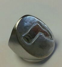 Your Hebrew name's initial on a sterling silver ring B