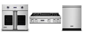 "Viking Pro Kitchen Package - 36"" Rangetop, 30"" Oven & Free Dishwasher"