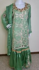 Pakistani Indian Gharara  Party Wear Embroidery Wedding Bridal XL