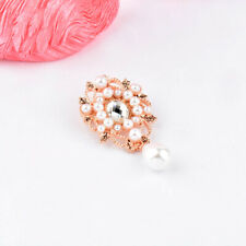 Luxury Simulated Pearl Cubic Zirconia Flower Leaf  Brooches For Women Jewelry