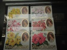 S272  NIUE  1981  FLOWERS MI  406-11 HIGH  VALUES FROM  SET   MNH