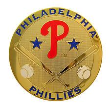 Philadelphia Phillies Round Metal MLB Logo Magnet