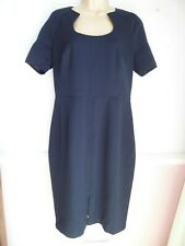 Marks & Spencer Navy Blue Pencil Fitted Office Dress Size 12