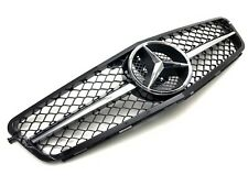 AMG Style Front Radiator Grille for Mercedes C-Class C204 W204 S204 Chrome/Black