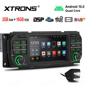"""Android 10.0 5"""" Car GPS Radio Stereo 4Core +CAM For Jeep Wrangler Dodge Chrysler"""