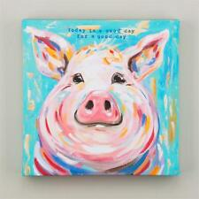 """NEW GLORY HAUS CANVAS PRINT - PIG """"TODAY IS A GOOD DAY""""  12"""" x 12"""""""