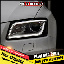 For Audi Q5 Headlights assembly Bi-Xenon Lens Double Beam HID KIT 2009-2017