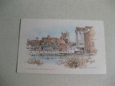 MILLBANK TEWKESBURY CARD/POSTCARD OPEN OUT ARTISTIC 1980,S PLAIN INNER RARE