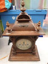 Antique Vintage Unghans J Wooden Mantel Clock